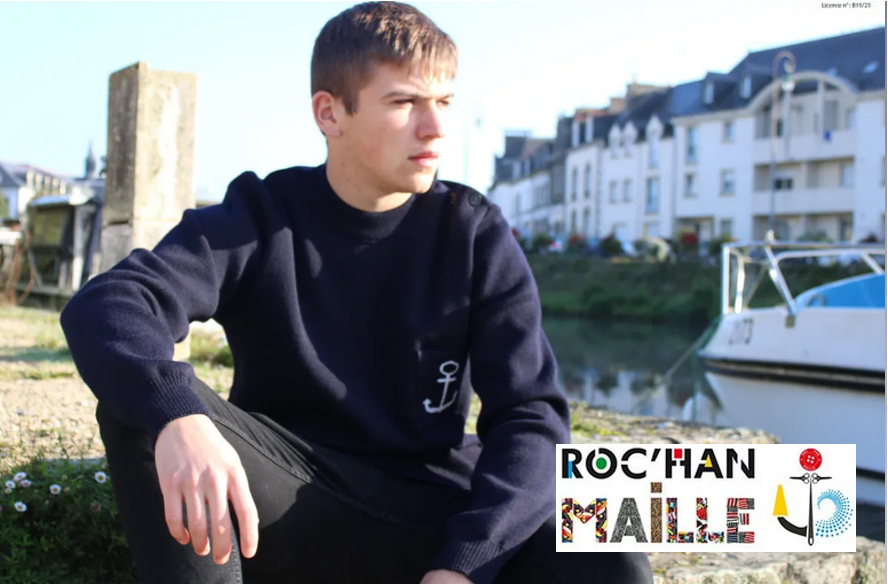 Pull marin homme Roc'han maille – Made in France